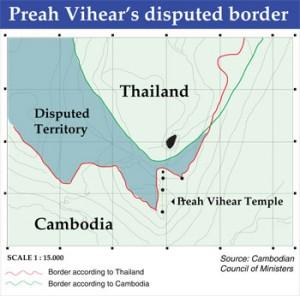 Source: http://wisdomquarterly.blogspot.com/2011/02/thai-cambodian-border-dispute-flares-up.html
