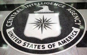 The logo of the U.S. Central Intelligence Agency is shown in the lobby of the CIA headquarters